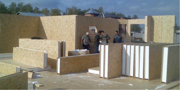 Дом построенный из сэндвич панелей своими руками